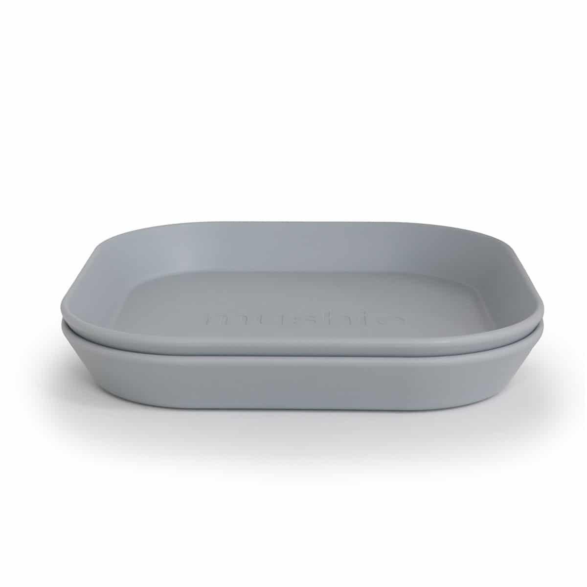 Mushie hranatý tanier 2 ks