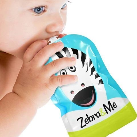 Zebra&Me Reusable Food Pouch